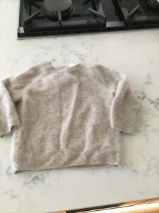 Baby Boys Girls Beige  pure 100% cashmere jumper 9 12 Month 80 Cm