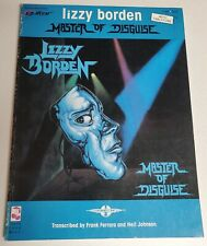 LIZZY BORDEN MASTER OF DISGUISE GUITAR TAB TABLATURE SONGBOOK SHEET MUSIC