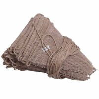10M 48 Flags Jute Rustic Hessian Burlap Bunting Banner Flag Party Wedding D Z6V7