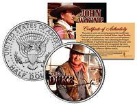 JOHN WAYNE THE DUKE * Chisum * GENUINE JFK Half Dollar U.S. Coin - Licensed