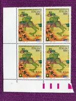 ITALIA 2001  QUARTINA LA CONFAGRICOLTURA  NUOVI