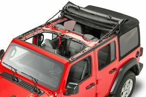 18-21 Jeep Wrangler JL 4 Door New Black Premium Soft Top Complete Kit Mopar OEM