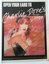 CHARLIE DORE 'Listen' 1981 UK Poster size Press ADVERT 16x12 inches
