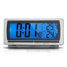 LCD Termometro ℃ ℉ Orologio Sveglia LED Blu + Caricabatterie per Auto