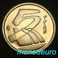 ESPAÑA 1989  5 PESETAS SIN CIRCULAR. NUEVO MODELO