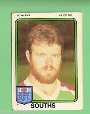 1981  SOUTH SYDNEY RABBITOHS  SCANLENS RUGBY LEAGUE  CARD  #47  GARY  HAMBLY