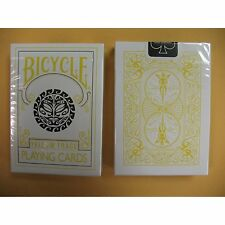 Rare Bicycle YELLOW TRACE Deck Playing Cards Magic Outline mayan sun moon blend