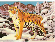 Tiger  Scene  Paint By Number  Refrigerator / Tool  Box  Magnet