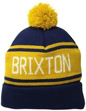 New With Tag!! 100% Authentic Brixton Men's Fairmont II Pom Beanie In Deep Blue