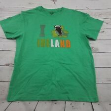 "Guinness Shirt Size Large Mens ""I Love /Shamrock Ireland"" St. Patrick's Day Used"