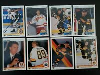 1990-91 Upper Deck UD Vancouver Canucks Team Set of 23 Hockey Cards Bure Kron RC