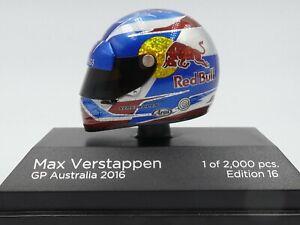 Minichamps 1:8 Max Verstappen helmet Australian GP F1 2016 rare 383169933