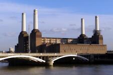 Battersea Power Station Nine Elms London UK Photo Art Print Poster 24x36 inch