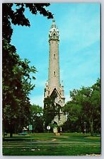 Old Water Tower Waterworks North Point Milwaukee, Wisconsin Chrome Postcard