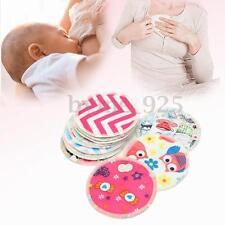 12Pcs Bamboo Fiber Waterproof Leakproof Washable Nursing Breastfeeding Pads 12cm
