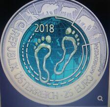 """Österreich 25 Euro Niob Silber 2018 """"Anthropozän""""  Eiamaya"""
