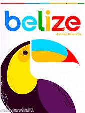 Belize Toucan Bird Central America Caribbean Travel Poster Advertisement Print