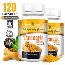 #1 Organic Tumeric/Turmeric Curcumin 1000mg l Vegetarian Capsules | 120 Capsules