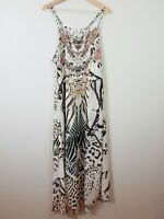 GIGI AND ELLA Womens Size M or 12 Sleeveless Patterned Embellished Maxi Dress