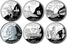 USA US STATE QUARTER COMPLETED 2003 SET 5 COINS IL AL ME MO AK PROOF UNC