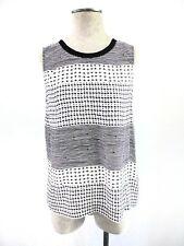 Madewell Womens Sleeveless Blouse Sz Medium Black and White Summer