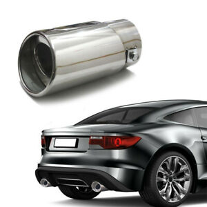 Car Auto Chrome Stainless Steel Rear Exhaust Pipe Tail Muffler Tip Accessories