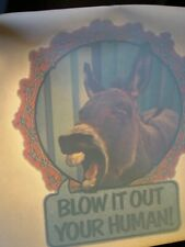 Blow It Out Your Human 1970's Vintage Americana Iron On Transfer Nice Mr Ed B-2