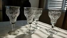 4 Beautiful Vintage McKee Depression Glass Rock Crystal Iced Tea Glasses