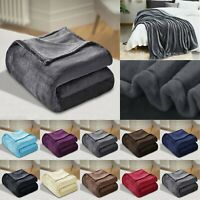 Large Warm Fleece Faux Fur Mink Blanket Sofa Bed Throw Over Double King Size