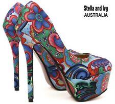 Narrow (AA, N) Floral Heels for Women
