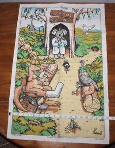 Doc koala's  Bush Clinic    linen tea towel   Designed in  Australia