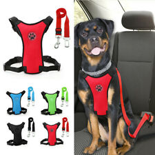 Air Mesh Pet Dog Car Harness and Seat Belt Clip Leash Safety for Dogs Travel S-L