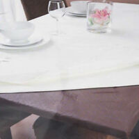 Inhabit Fitted Table Protector by Ladelle   Brown   150x150cm Sq   Waterproof