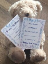 Baby Shower Guess the Mess Nappy Game 10 cards & a Winners Certificate Blue Boy