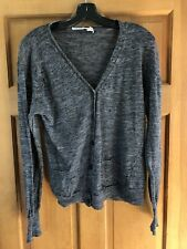 Isabel Marant Gray Melange Linen Blend Cardigan Sweater- see measurements