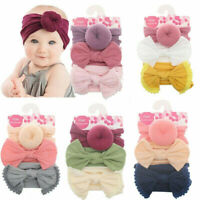 3pcs/Set Baby Nylon Head Wrap Turban Top Knot Headband Newborn Girl Accessories