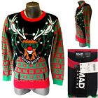 Mad Engine Mens S Long Sleeve Pullover Light Up Ugly Christmas Holiday Sweater