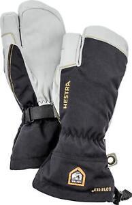 2020 Mens Hestra Army Leather Gore Tex 3 Finger Ski Glove Size 11 Black 31462