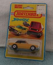 Matchbox 6 Mercedes  MOC BP MIP carded 1/64 Superfast Blister Pack Yellow