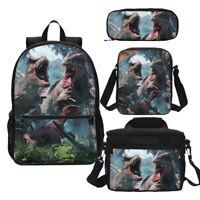 Jurassic Park Dinosaur Tyrannosaurus Rex T-Rex Backpack School Bag Set Lot Gift