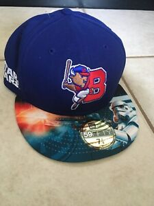 New Era 59Fifty Buffalo Bisons Star Wars Night Fitted Hat Size: 7 5/8 Rare