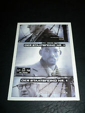 ENEMY OF THE STATE, film card [Will Smith, Gene Hackman]