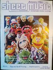 Sheet Music Magazine January 1982 Vol 6 No 1 Muppet Show Henson Lennon OOP Rare!