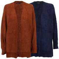 Ladies Chenille Cardigan Brave Soul SHORT BATWING Sleeves Womens Knit Open Front