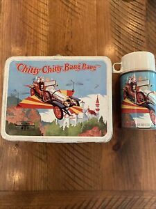 Chitty Chitty Bang Bang Metal Lunch Box With  Thermos- VGC