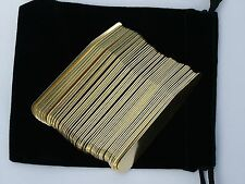 """50 2.15"""" Solid Brass Collar Stays Stay for Mens Dress Shirt Oxford in Pouch"""