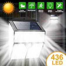 436 LED Solar Power Light PIR Motion Sensor Outdoor Lamp Wall Waterproof Garden