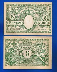 PORTUGAL - BANKNOTEN 5 CENTAVOS  C. MUNICIPAL DE CHAVES (Local Issue)  UNC