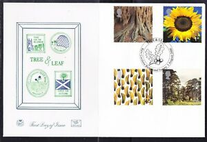 """Great Britain 2000 """"Stuart"""" Tree & Leaf First Day Cover  APM399e"""