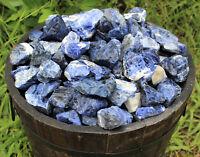 1 Single Blue Natural Rough Sodalite Raw Crystal Gemstone Specimen Reiki Healing